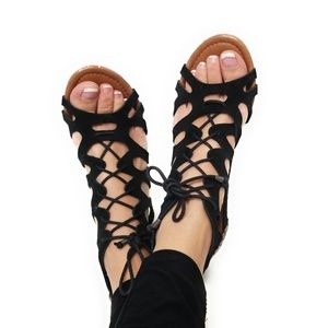MINNETONKA Womens Suede Strappy Sandals Size 8